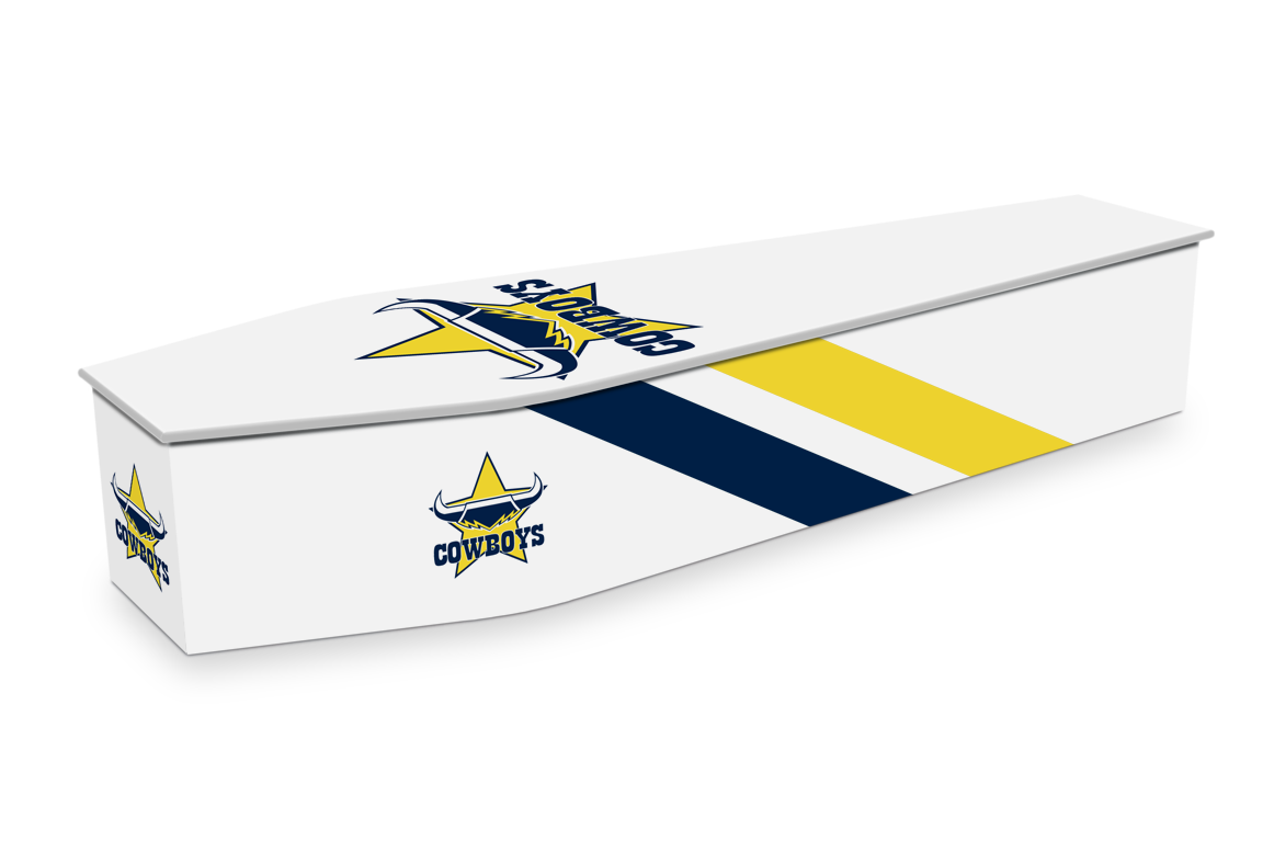 North Queensland Cowboys Custom Coffin Design | Expression Coffins