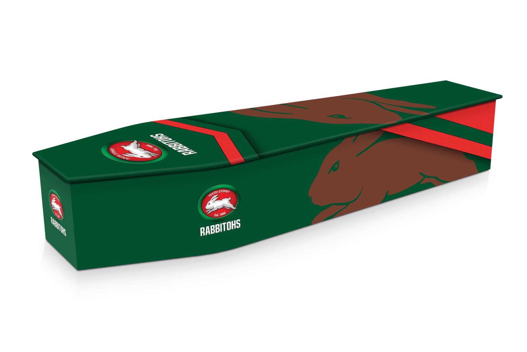 South Sydney Rabbitohs Custom Coffin Design Expression Coffins